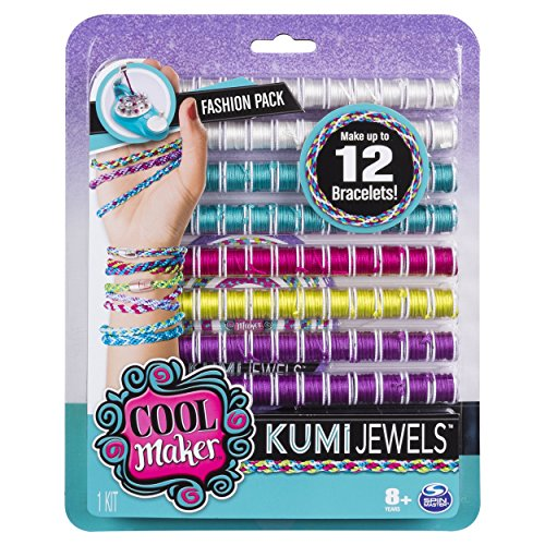 Cool Maker - KumiJewels Fashion Pack, Makes Up to 12 Bracelets with the KumiKreator, for Ages 8 and Up