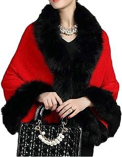56dfcf06cb693 UUYUK Women Casual Open-Front Faux Fur Cloak Fleece Outwear Cardigans