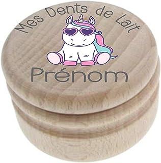 Boite à Dents de Lait en bois - Fabrication française - Personnalisée avec le prénom de l'enfant + Texte personnalisable –...