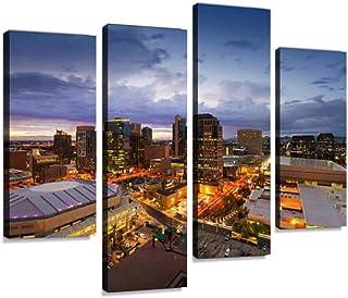 Phoenix Skyline, Arizona Canvas Print Artwork Wall Art Pictures Framed Digital Print Abstract Painting Room Home Office De...
