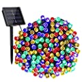 DooVee Solar String Lights, 72ft 200 LED Solar Fairy Lights with 8 Modes, Waterproof Outdoor String Lights for Patio, Garden, Party, Christmas, Holiday Decorations (Multicolor)