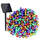 Toodour Solar String Lights, 72ft 200 LED 8 Modes Outdoor String Lights, Waterproof Solar Fairy Lights for Garden, Patio, Fence, Holiday, Party, Balcony Decorations (Multicolor)