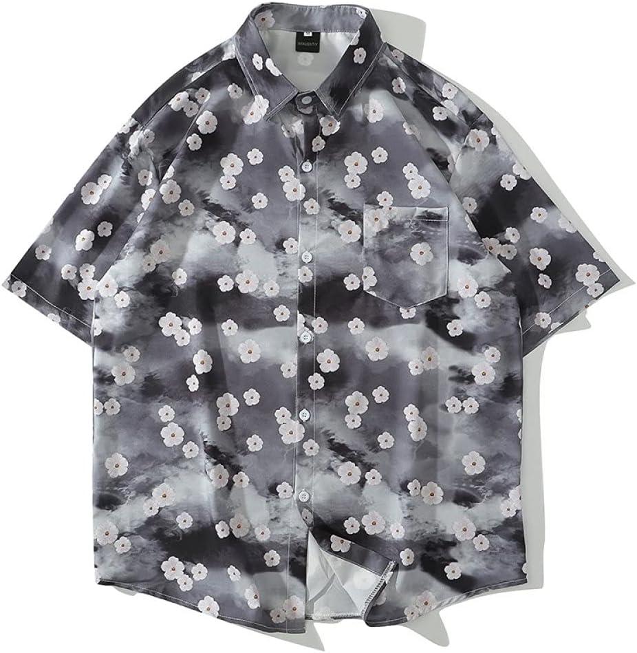 FANGDADAN Casual Hawaiian Shirt for - Sh Men Max 61% OFF Mens Loose Ranking TOP11