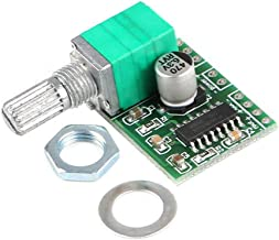 HiLetgo Mini 3W+3W DC 5V Audio Amplifier Handy Digital Power Amp Module Board Dual-Channel PAM8403 Stereo Amplifiers with Potentiometer for DIY Portable