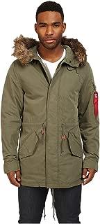 Alpha Industries Men's J-4 Fishtail Field Coat Olive Outerwear