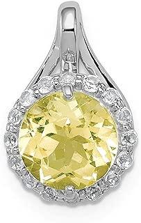 lemon topaz necklace