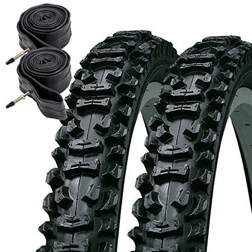KENDA Smoke 26' x 1.95 Mountain Bike Tyres with Presta Tubes (Pair)