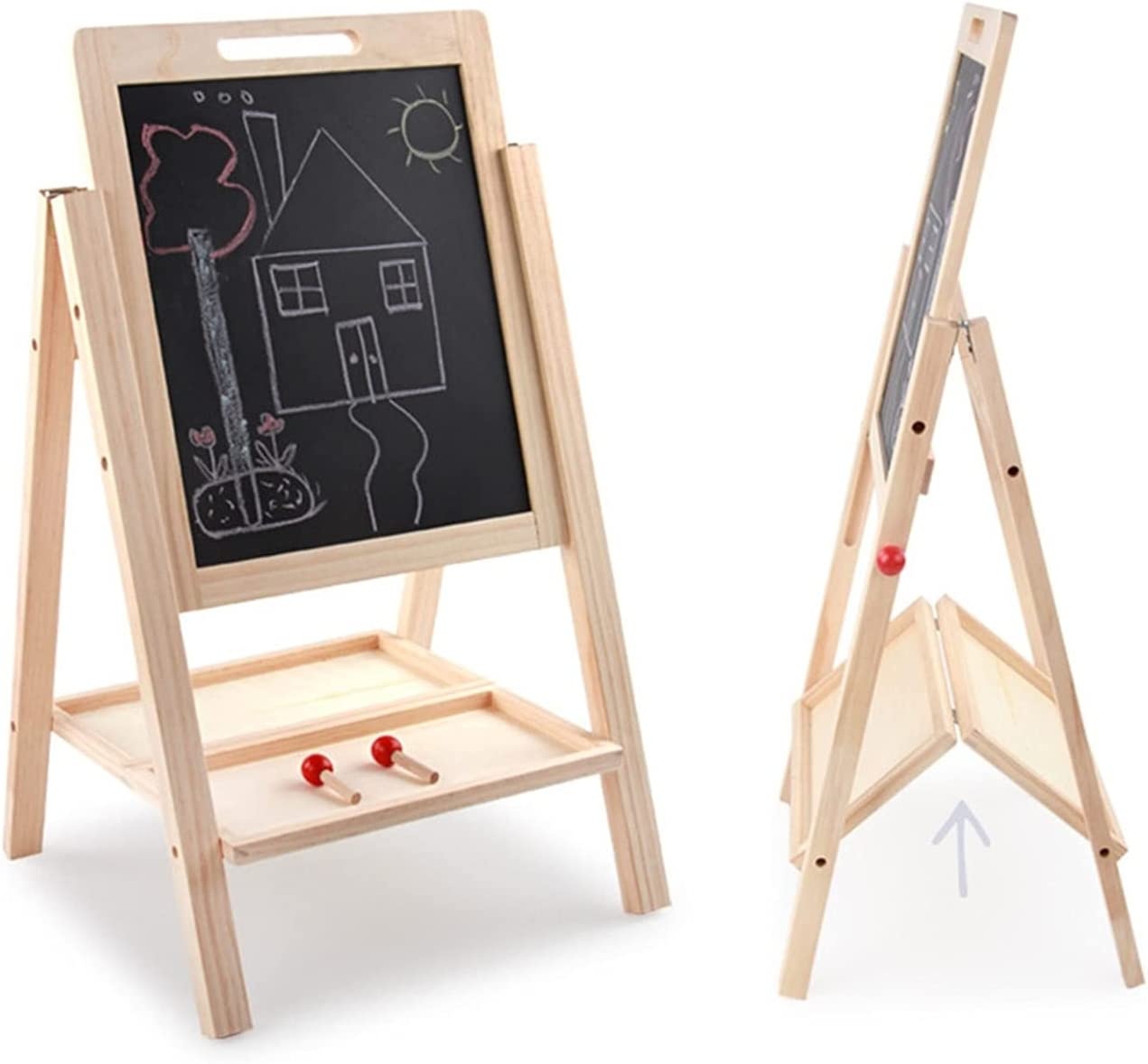 All stores are sold JIAQUAN-SHOP Easel We OFFer at cheap prices Kids Wooden Art Adjustable Eas Standing