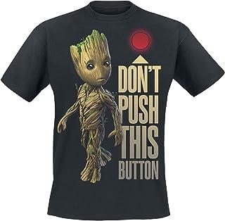Guardians Of The Galaxy 2 - Groot - Button T-shirt zwart Fan merch, Film, Groot, Marvel, Superhelden