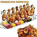 Guajave Edelstahl Hühnerflügel Beinständer Grillhalter mit Tropfpfanne zum Kochen BBQ