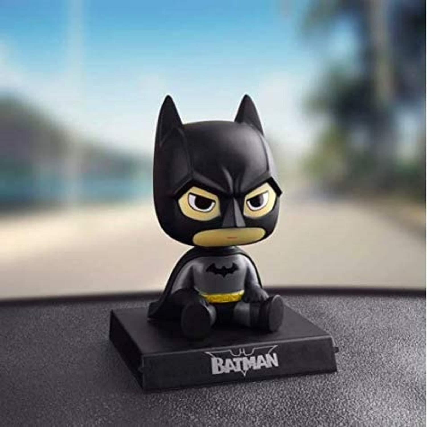 AUGEN Super Hero Batman Action Figure Limited Edition Bobblehead with Mobile Holder for Car Dashboard, Office Desk & Study Table (Pack of 1)