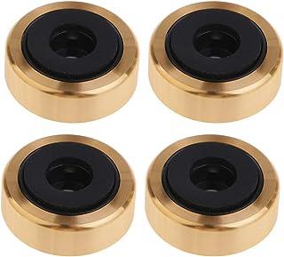 KESOTO 4x 30x11mm Alto-falante Plástico de Alumínio AMP Isolation Pad Pad Base Gold