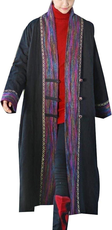 Winme Women Plus Size Topcoat Dashiki Warm Casual Cotton Padded Jacket