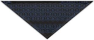 Logic Theory Honeycomb Periodic Table Blue Pattern Pet Scarf Dog Cat Bandana Collars Triangle Neckerchief