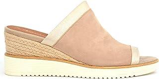 Tamaris Trendy Leather Wedge Heel Mules