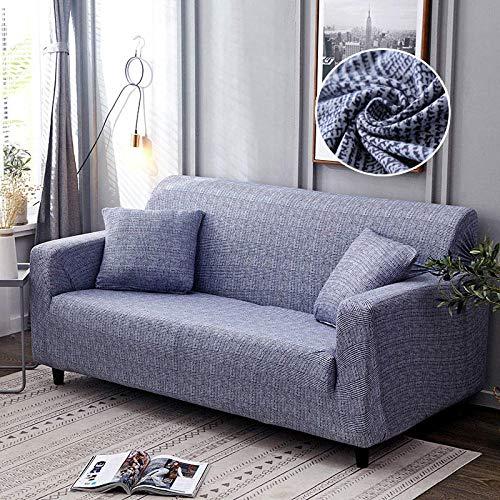 Funda de sofá 3 +1 + 1 algodón, Funda de sofá elástica, Funda de sillón en Forma de L para salón, Funda Protectora Todo Incluido,Color_5,4-Seater_235-300cm