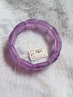 7 inch strand natural lavendor amethyst 14x21 mm rectangle smooth beads - sale - 14x21mm lavendor amethyst stretch bracelet in 7 inch good quality. natural gemstone bracelet