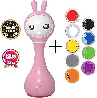Alilo Intelligente Babyrassel Smart Bunny R1 (Pink)   Edutainment für Ihr Kind   Rassel Spieluhr Babyspielzeug Baby