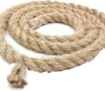Cuerda de cáñamo natural de 12 mm de grosor marrón marrón ...