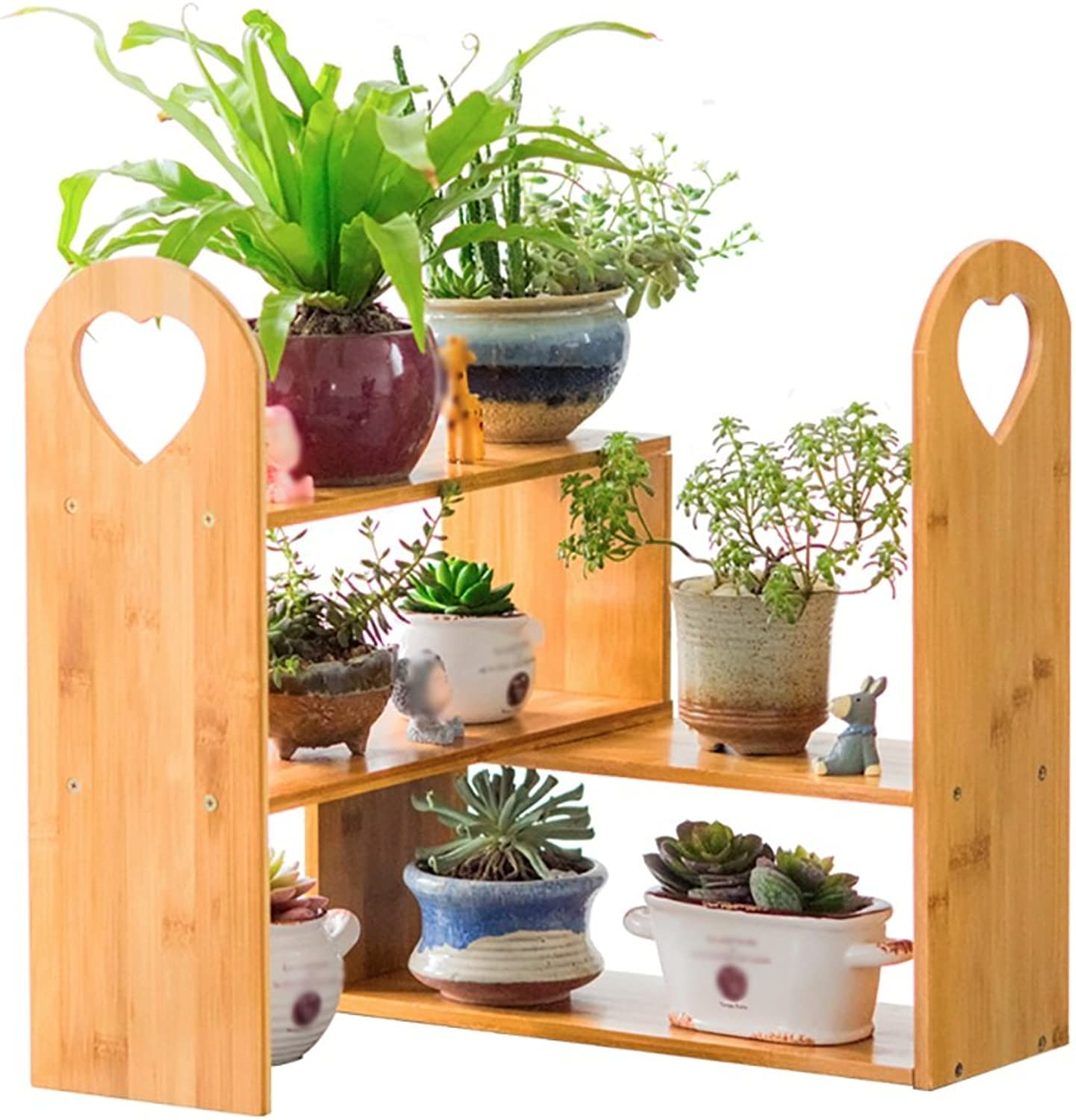 AJZGFOutdoor Indoor Display Plant Stand Simple and Stylish Multi Plant Shelf, Wooden Kitchen Rack