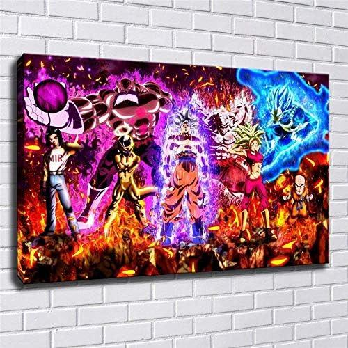Goku Vs Jiren Dragon Ball Poster Wall Art Home Wall Decorations for Bedroom Living Room Oil product image