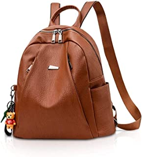 XHHWZB Children's Backpack Brown New Korean Version of The Backpack on The New Multi-Function Anti-Theft Casual Backpack