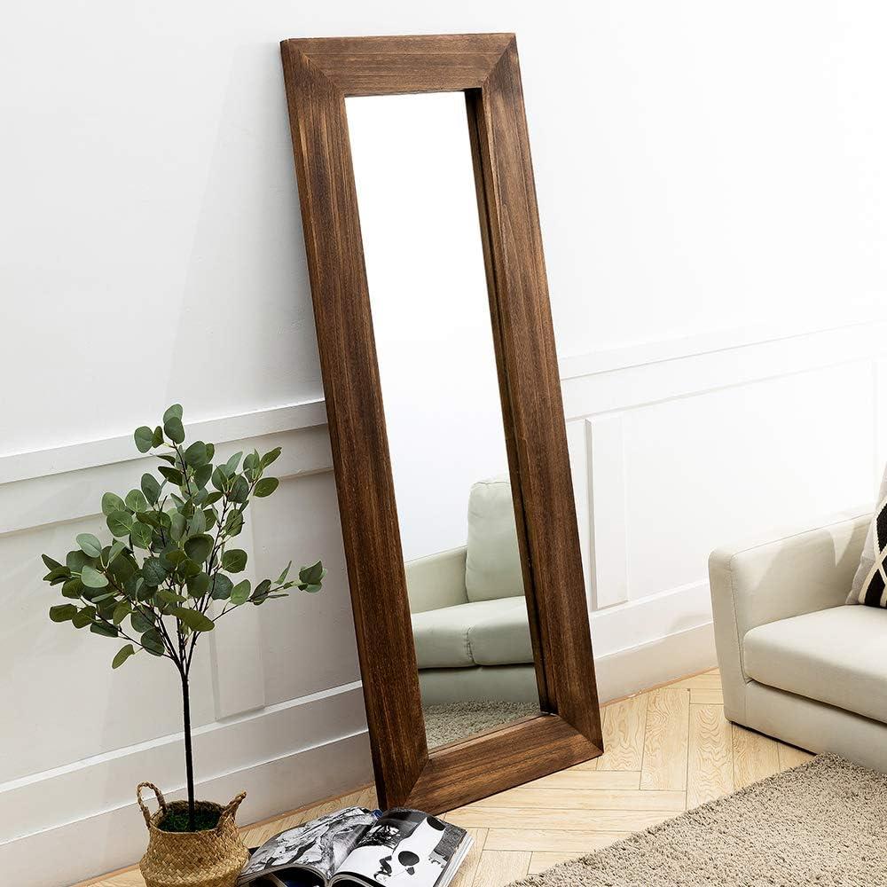 "Rustic Wood Floor Mirror 人気の定番 65""x24"" Full 送料無料新品 Lager Length"