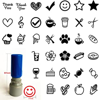 """Set of 3 loyalty card stamp you pick image color Self inking business rubber pre ink stamp 3/8"""""""