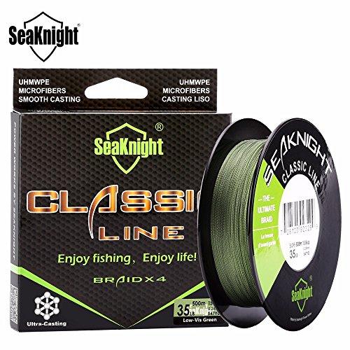 Verde 2.0: SeaKnight Classic 500M 546YDS - Lenza da pesca intrecciata a 4 fili, 4 fili, resistente, multifilamento PE Line 6LB - 80LB pesca alla carpa