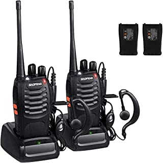 Walkie Talkies, Sunreal BF-888S Long Range Rechargeable Two Way Radios with Original Earpiece (Pack of 2)