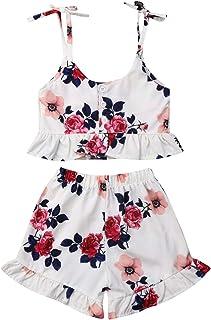 Urkutoba 3PC Baby Girl Feather Vest Tops+Golden Dots Tassels Short Pants+Bowknot Headband