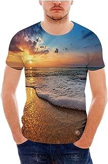 SfeatrutMAT Short Sleeves,Damask Composition Medieval European Leaves Swirls,T-Shirt Tees for Men