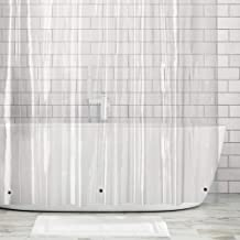 mDesign Waterproof, Heavy Duty Premium Quality 10-Guage Vinyl Shower Curtain Liner for Bathroom Shower and Bathtub - 72