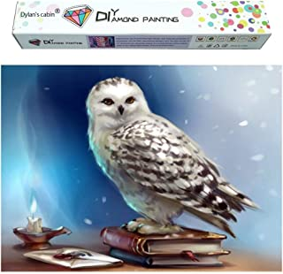 Dylan's cabin DIY 5D Diamond Painting Kits for Adults,Full Drill Embroidery Paint with Diamond for Home Wall Decor(owl/16x12inch)