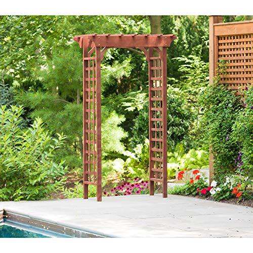 Tidyard Trellis Arbor Rose Arch with 2 Planters Pergola
