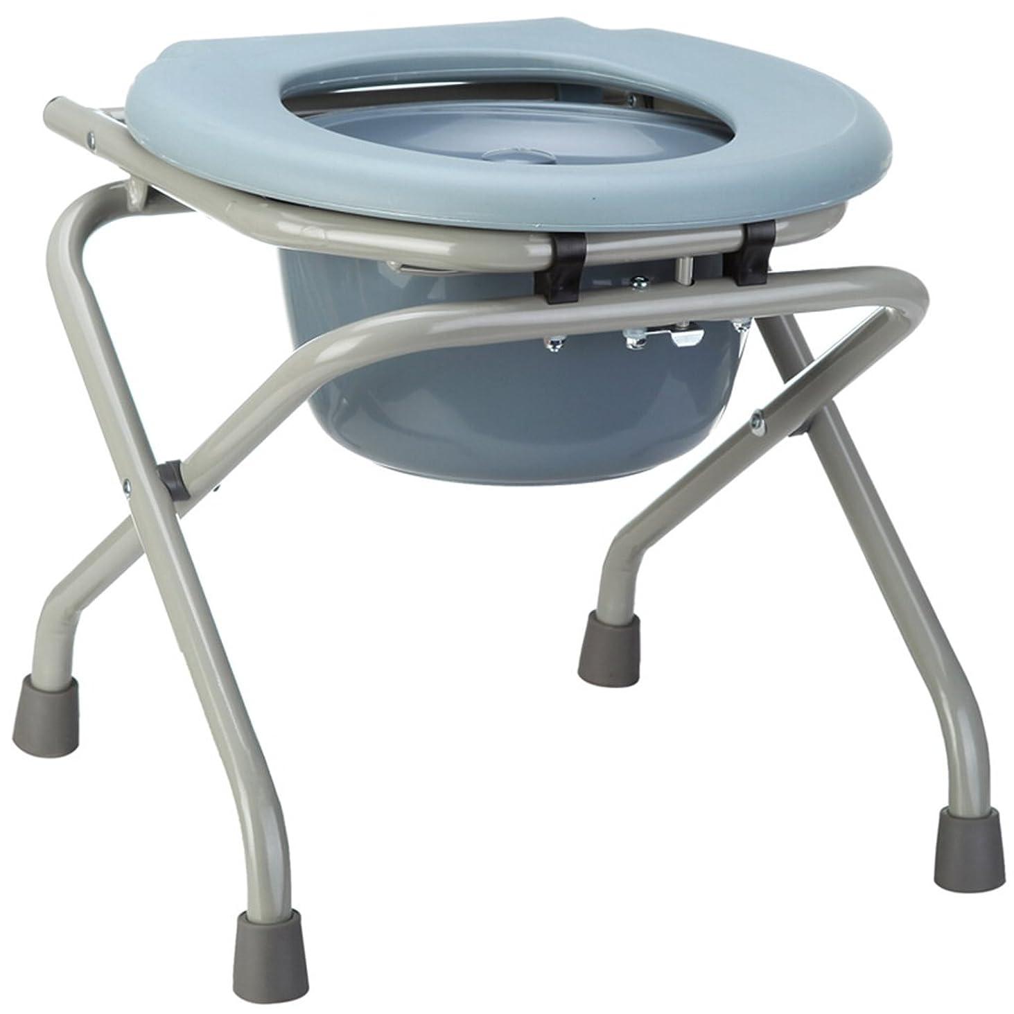 前文ミシン私トイレ椅子、折り畳み式ノンスリップバスルーム老人妊婦トイレチェア40x40x41cm
