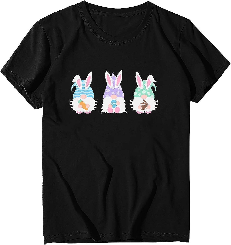 Tshirts for Womens, Womens Loose T-Shirts Casual Printing Short Sleeves O-Neck Blouse Tops