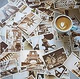 theFIU. 32 piezas 1 juego de tarjetas postales de viaje vintage retro de Europa antigua, clásica postal retro nostalgia, famosas tarjetas postales de puntos escénicos para coleccionar felicitaciones.