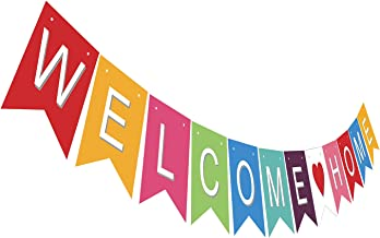 Gyzone Welcome Home Garland Banner Supplies for Kids and Adults Birthday Party Decorations Party Supplies
