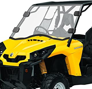 Can-Am Commander Clear Full Windshield - Front Can-Am windshield for 11-18 Commander 800/1000, 16-18 Commander 800 Max & 14-18 Commander 1000 Max UTV