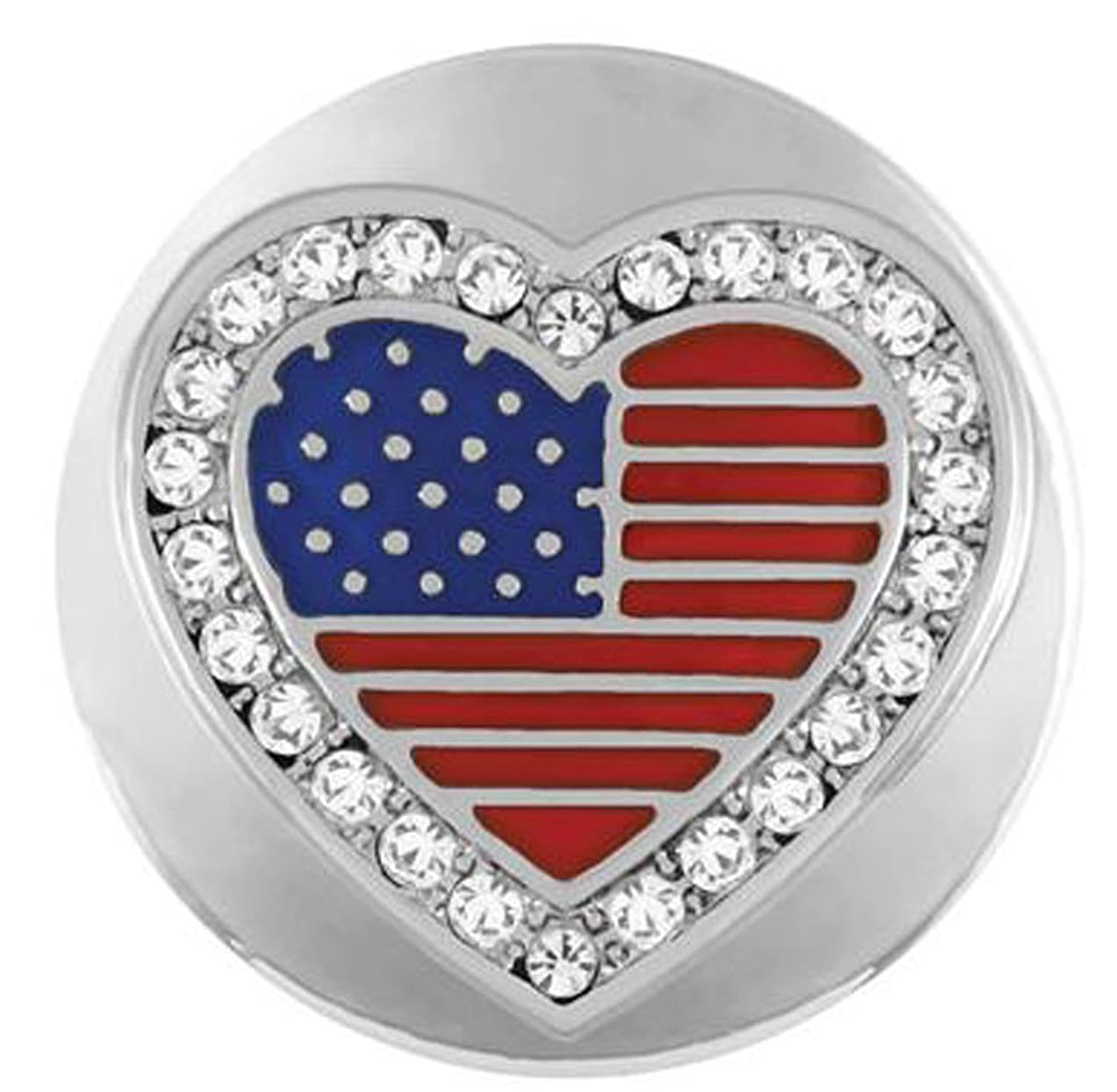Ginger Snaps HEART USA SN04-50 (Standard Size) Interchangeable Jewelry Accessories