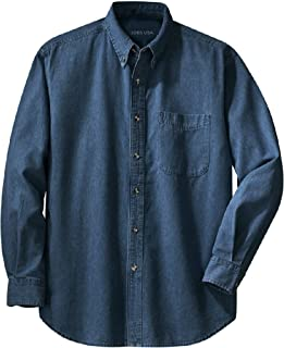 Joe's USA Men's Long Sleeve Denim Shirts in Sizes XS-6XL