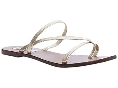Steve Madden Janessa Flat Sandal (Gold Leather) Women
