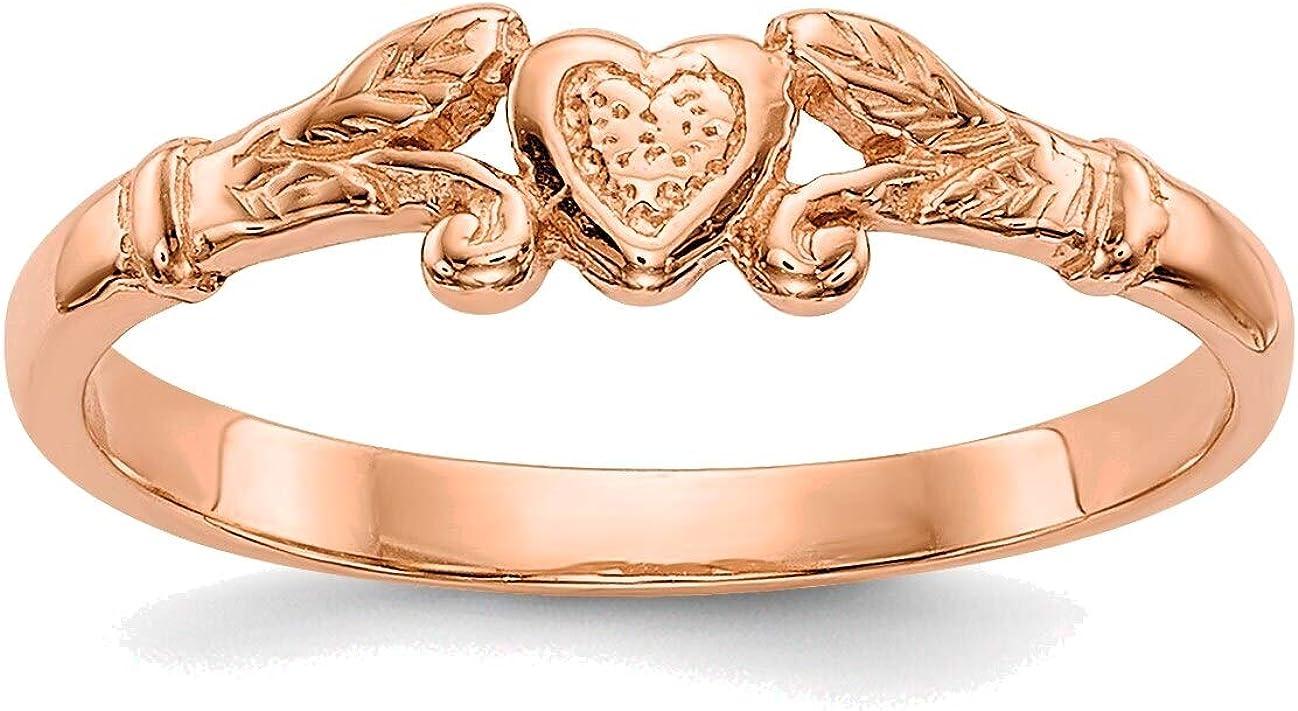 Bonyak Jewelry 14K Rose Department store Gold Mini Heart Textured Trust Ring