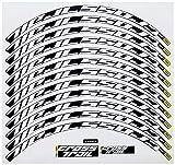 Ecoshirt DQ-ZLBL-BPZ7 Pegatinas Stickers Llanta Rim Mavic Crosstrail Bike 26' 27,5' Am58 MTB Downhill, Blanco 27.5'