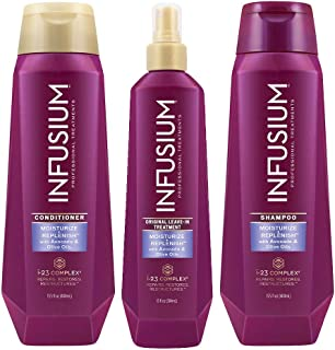 INFUSIUM, Shampoo + Conditioner + Leave in Treatment, Moisturize and Replenish, 13.5 oz, (ea.)