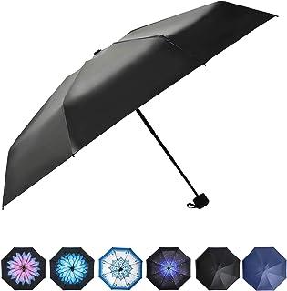 Prodigen Upgrade Travel Mini Umbrella Windproof UV Folding Compact Umbrella Portable Lightweight Sun & Rain Umbrellas for Women and Men -Star Night