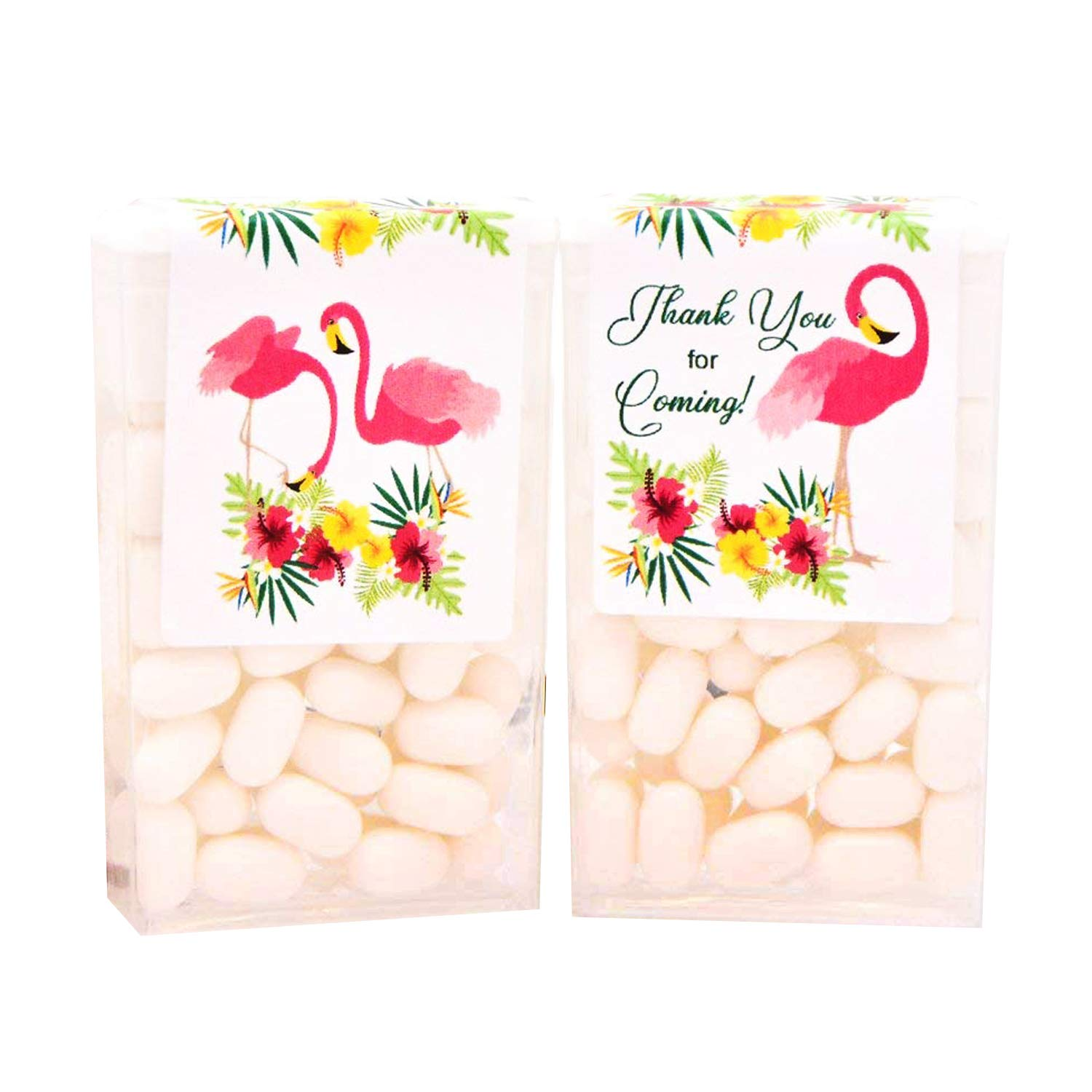 24 Animer and price revision Flamingo Labels for Tic Tac Birthday Wedding Manufacturer regenerated product Favor Party