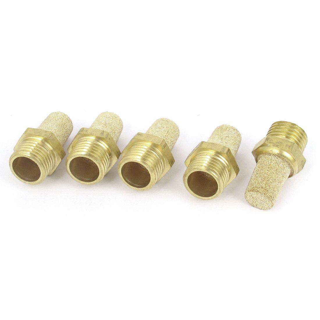 trust uxcell 1 4BSP Male Thread Brass Air Silencer M Pneumatic Exhaust Max 53% OFF