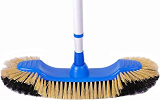 Euro Café Broom - European-Style Sweeper for Hardwood Floors, Linoleum and Vinyl, Ideal for Home, Kitchen, and Office